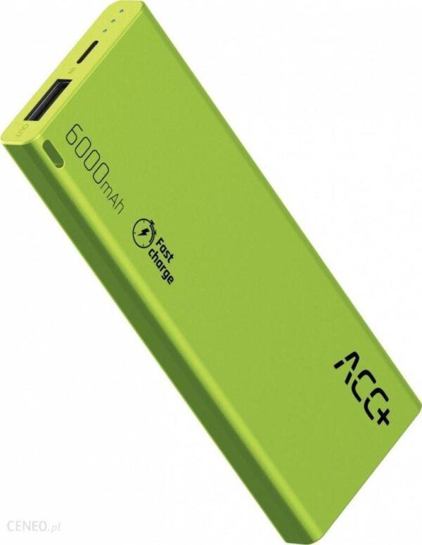Powerbank ACC+ THIN 6000mAh Zielony