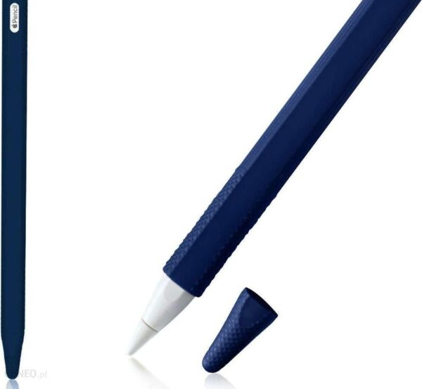 Alogy Etui ochronne obudowa pokrowiec na Apple Pencil 2 Granatowe