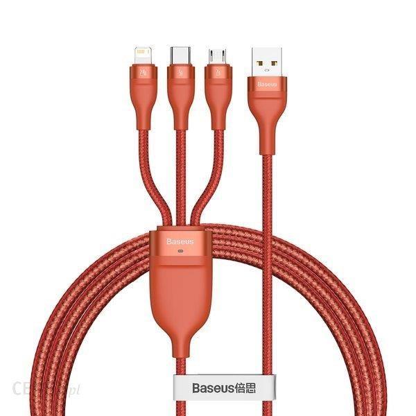 Baseus 3w1 kabel USB - Lightning / USB Typ C / micro USB 1