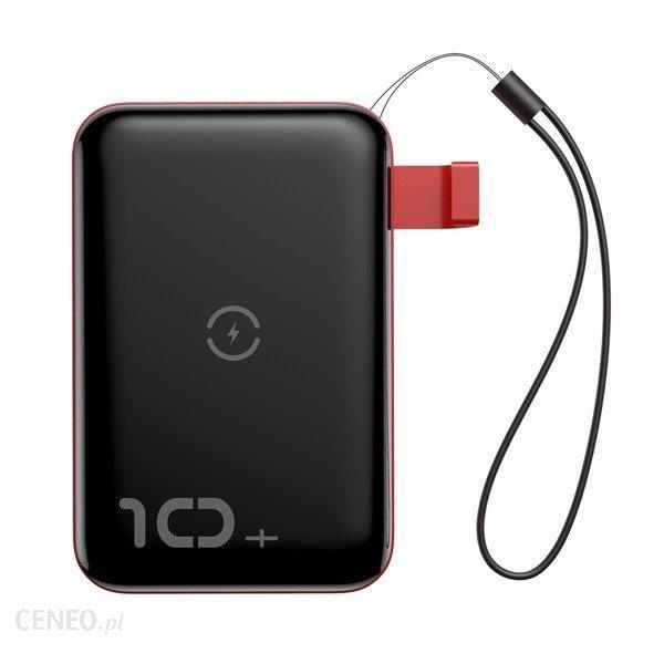 Powerbank Baseus Mini S QI 10000mAh Czarny (PPXFF10W-19)