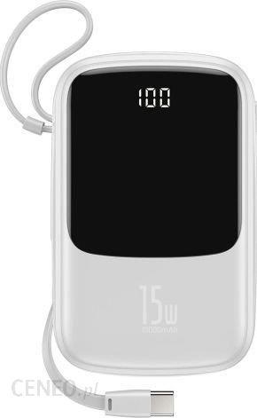 Powerbank Baseus Qpow 10000mAh Biały (PPQD-A02)