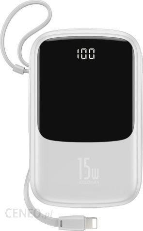 Powerbank Baseus Qpow 10000mAh Biały (PPQD-B02)