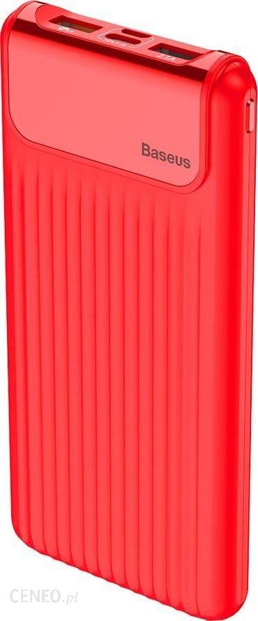Powerbank Baseus Thin Digital 10000mAh Czerwony (PPYZ-C09)