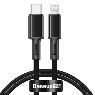 BASEUS USB-C do Lightning PD 20W 1m czarny