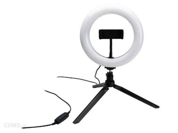 Bigben Uchwyt do telefonu selfie z lampą pierścieniową Connected (VLOGKITTRIPB)