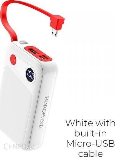 Powerbank Borofone BT24 10000mAh Micro USB Biały