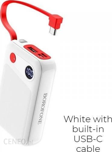 Powerbank Borofone BT24 10000mAh USB C Biały