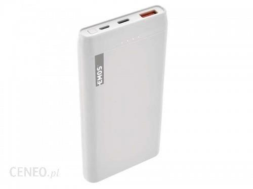 Powerbank EMOS ALPHAQ 10000mAh Biały (B0524W)