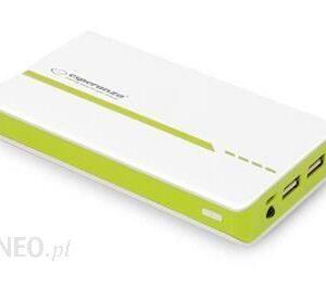 Powerbank Esperanza 11000mAh Atom Biało/Zielony (emp107wg)
