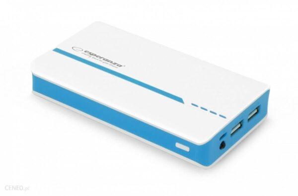 Powerbank Esperanza 11000mAh Biały/Niebieski (EMP107WB)