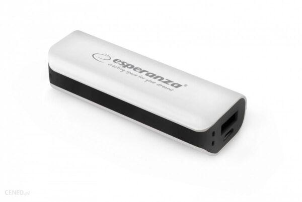 Powerbank Esperanza 2200mAh Biały/Czarny (EMP103WK)
