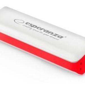 Powerbank Esperanza 2200mAh Biały/Czerwony (EMP103WR)