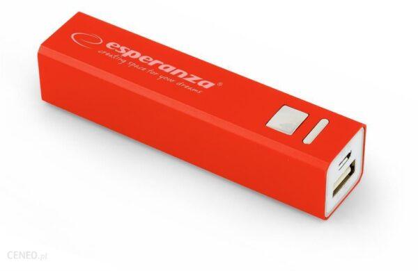 Powerbank Esperanza 2400mAh Czerwony (EMP102R)