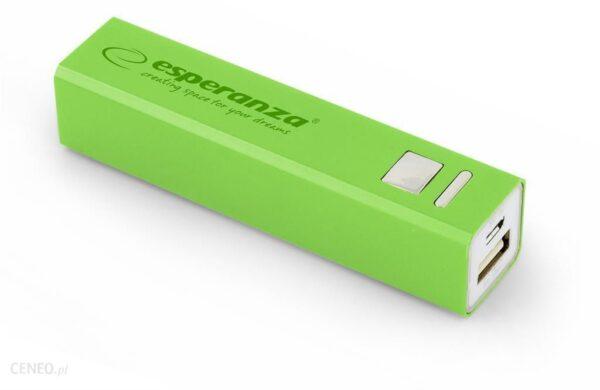 Powerbank Esperanza 2400mAh Zielony (EMP102G)