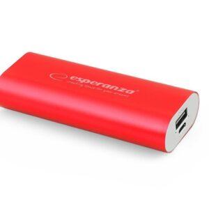 Powerbank Esperanza 4400mAh Czerwony (EMP105R)