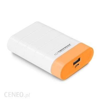 Powerbank Esperanza 4800mAh Biały/Pomarańczowy (EMP110WO)