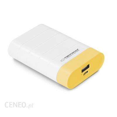 Powerbank Esperanza 4800mAh Biały/Żółty (EMP110WY)