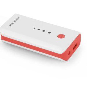 Powerbank Esperanza 5200mAh Biały/Czerwony (EMP104WR)