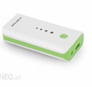 Powerbank Esperanza 5200mAh Biały/Zielony (EMP104WG)