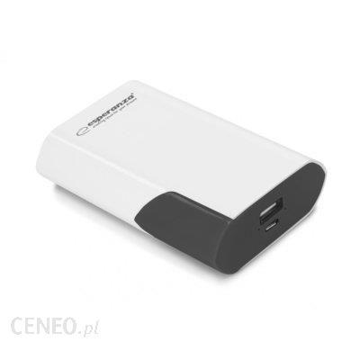 Powerbank Esperanza 6000mAh Boson Biały/Czarny (EMP111WK)
