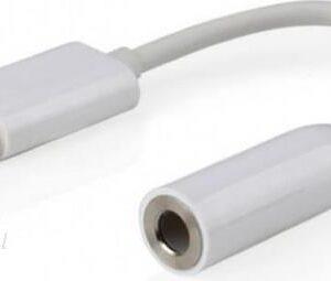 """Gembird Adapter Mini Jack Stereo 3.5"""" Usb-c Biały (CCA-UC3.5F-01-W)"""