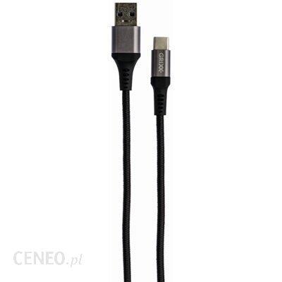 Grixx Kabel USB - USB Typ-C 3m Czarny (GRCACUSBFBK03)