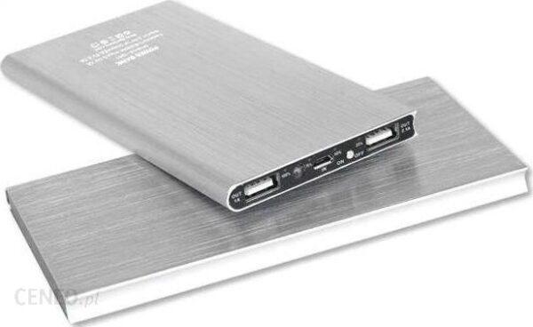Powerbank HiTech US13B SUPER SLIM 20000mAh Srebrny