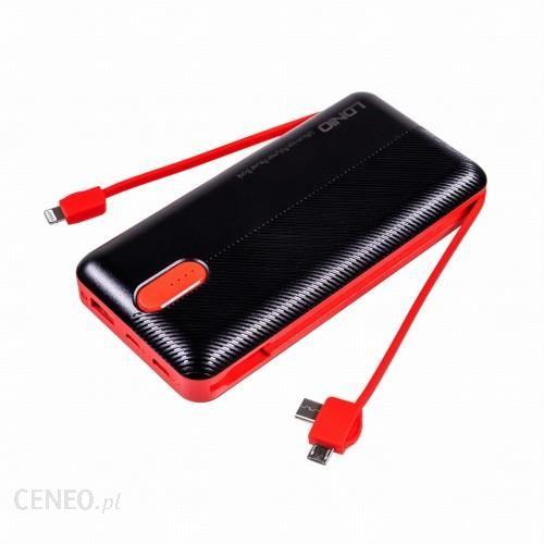 Powerbank Ldnio Pl2014 20000Mah Czarno-Czerwony