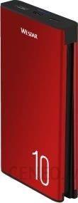 Powerbank Mobilari Wesdar S1 10000mAh Czerwony (M555023RD)