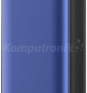 Powerbank Platinet polymer LCD + micro USB 10000mAh niebieski (PMPB10XLBL)