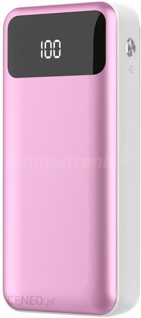Powerbank Platinet polymer LCD + micro USB 10000mAh różowy (PMPB10XLP)