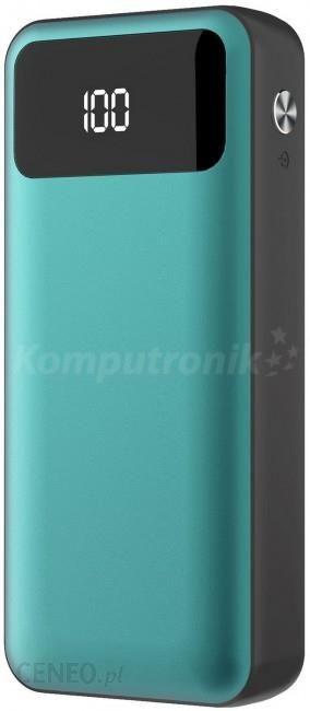 Powerbank Platinet polymer LCD + micro USB 10000mAh zielony (PMPB10XLG)