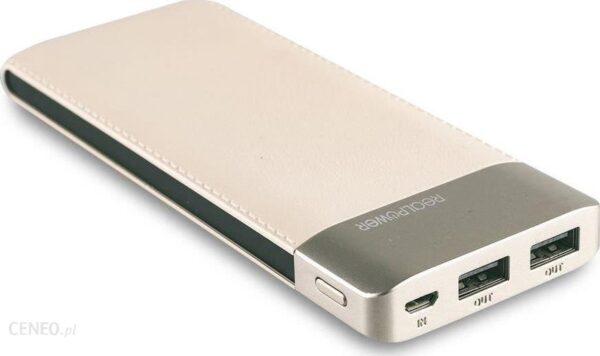 Powerbank Realpower PB-8000 8000mAh Fashion Beżowy