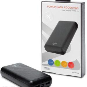 Powerbank SAVIO 20000mAh Czarny (BA-03)