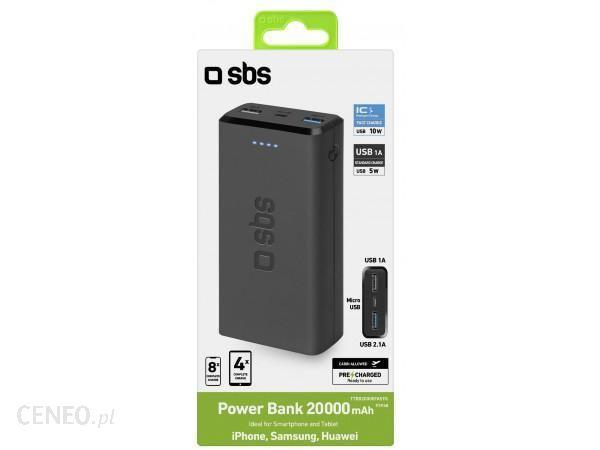 Powerbank SBS 20000mAh Czarny (TTBB20000FASTK)