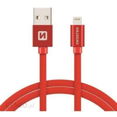 Swissten Kabel USB - Lightning 2m Czerwony (71524306)