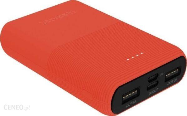 Powerbank TerraTec P100 10000mAh Czerwony (282266)