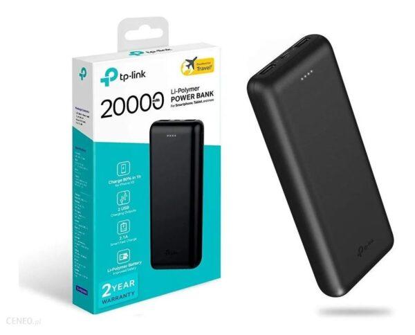 Powerbank TP-LINK PB20000 20000mAh Czarny