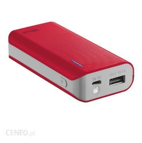 Powerbank Trust Urbanrevolt Primo 4400mAh Czerwony (21226)