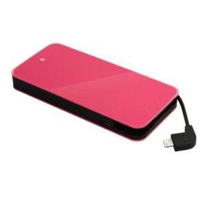 Powerbank Ttec Easycharge Slim 6000mAh Różowy (TEASYCHARGESLIMMFI6000P)