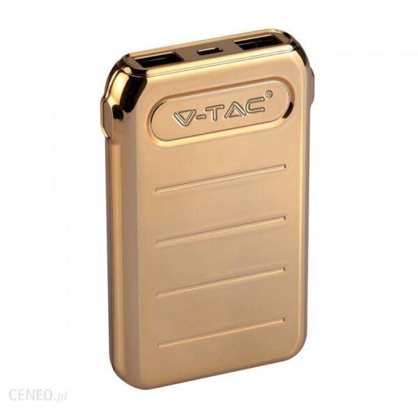 Powerbank V-TAC 10000mAh Złoty (VT-3522)