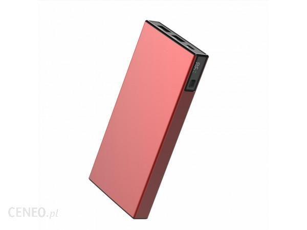 Powerbank VIGGO DESIGN 10000mAh PD 18W aluminium Czerwony