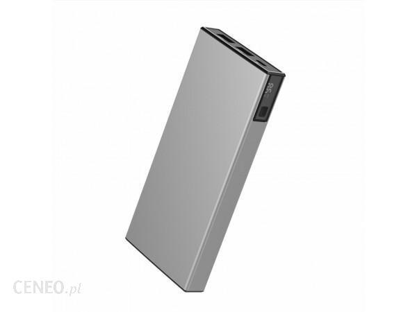 Powerbank VIGGO DESIGN 10000mAh PD 18W aluminium Srebrny