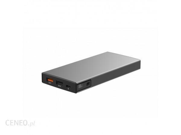 Powerbank VIGGO DESIGN 10000mAh PD 18W aluminium Szary