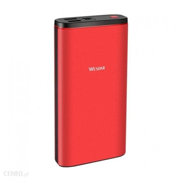 Powerbank Wesdar S59 20000mAh Czerwony (M555024RD)