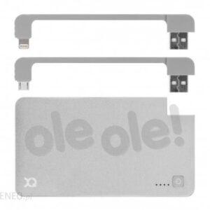 Powerbank Xqisit Pack Lightning/Micro 3000mAh Srebrny (99923889)